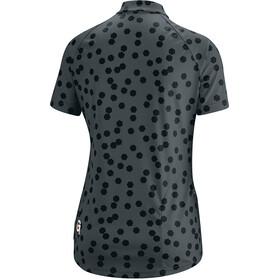Gonso Lilo T-shirt de cyclisme avec zip pectoral Femme, graphite/black allover